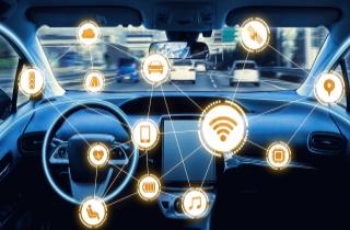 Autonomous car with data