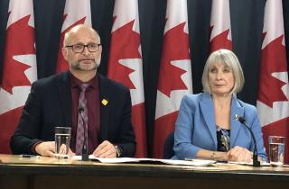 Justice Minister David Lametti and Health Minister Patty Hajdu