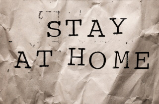 COVID-19 stay at home sign