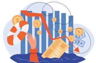 Drowing in debt