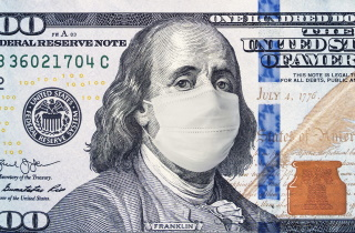 U.S. dollar with mask