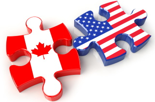 Canada U.S. puzzle pieces