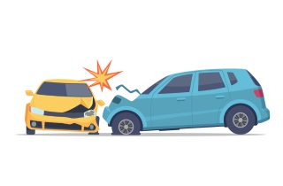 Cars colliding