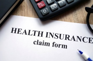 Insurance claim form with calculator