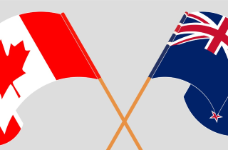 Canadian and New Zealand Flags