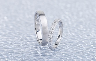 Two silver wedding rings