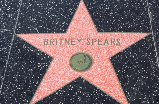 Britney Spears' star on Hollywood Walk of Fame