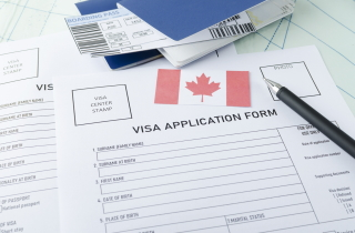 Canadian Visa application form
