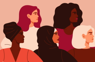 Five ethnically different women