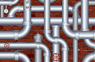 Oil pipeline maze