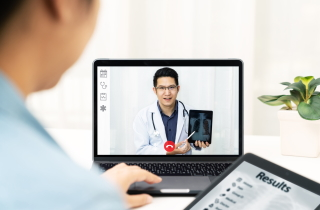 Doctor seeing patient virtually