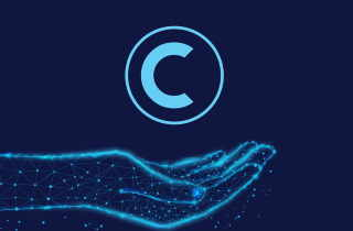 Electric Blue copyright symbol