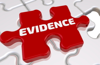 Puzzle piece labelled 'evidence'