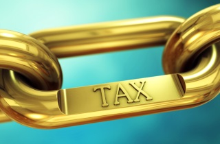 Gold links with word tax on one of the links