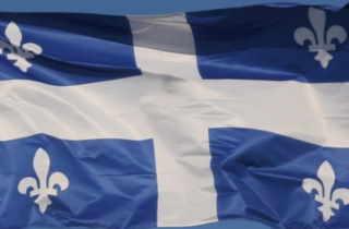 quebec flag close up