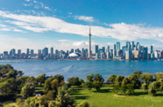 View of Toronto from the Toronto Islands