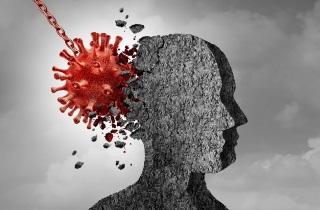 Coronavirus hitting head