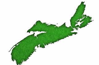 Green map of Nova Scotia