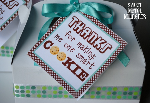 One Smart Cookie Free Printable Tags