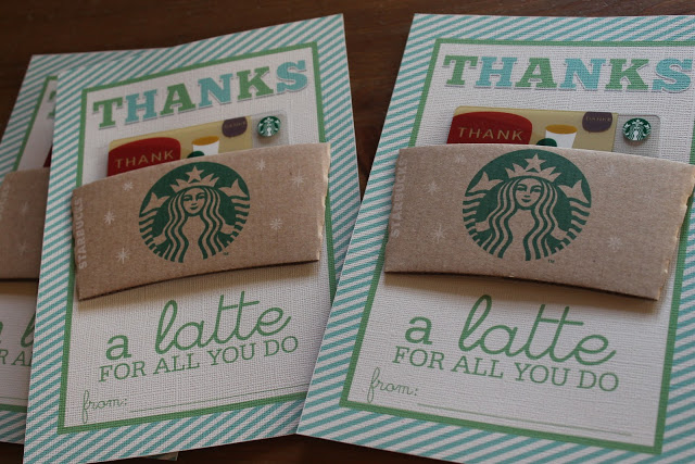 Thanks A Latte Printable Tags