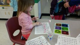 Foxboro- 100th day of school pompom counting