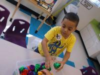 Lake Worth- VPK students explore with classroom materials
