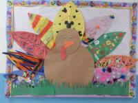 Mckinney-Preschoolers made their own turkey feather