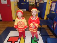 Wayne-toddler and prepper brothers wear handmadde chinese clothes