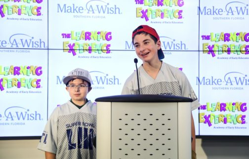 Make-A-Wish & The Learning Experience Team Up to Grant Two Wish Kids the Super Bowl Experience of a Lifetime