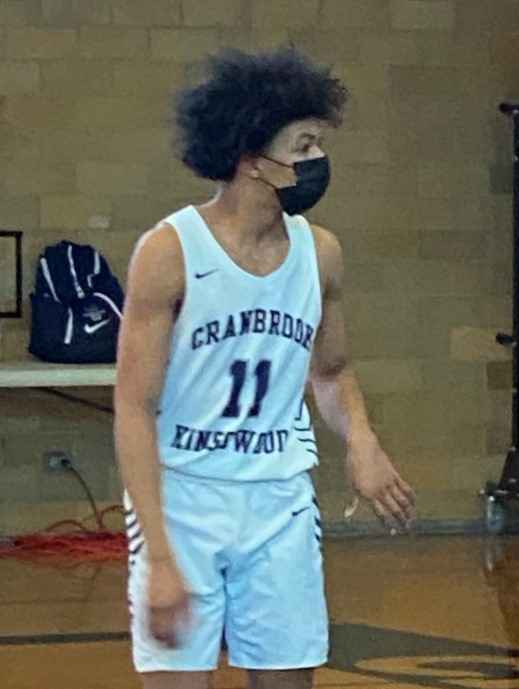 Cam Garner put in 20 points in the Cranes loss to Riverview Gabriel Richard