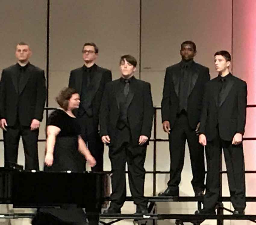 Austin E Jordan performance in the Concert Choir