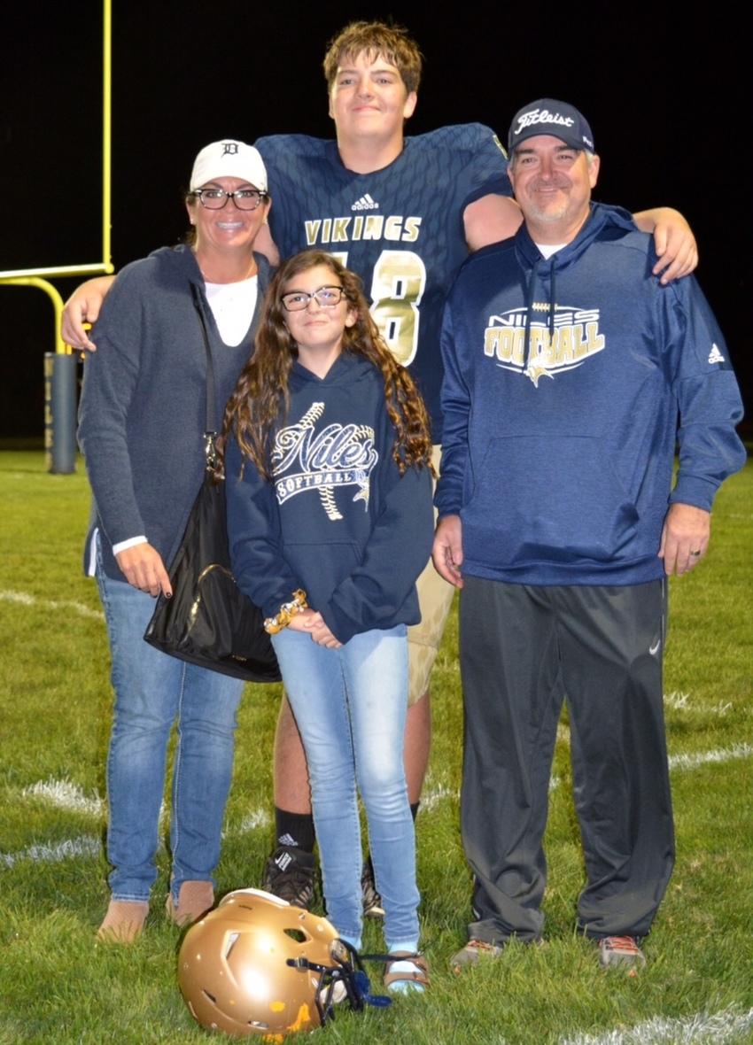 Nolan and family jr year varsity