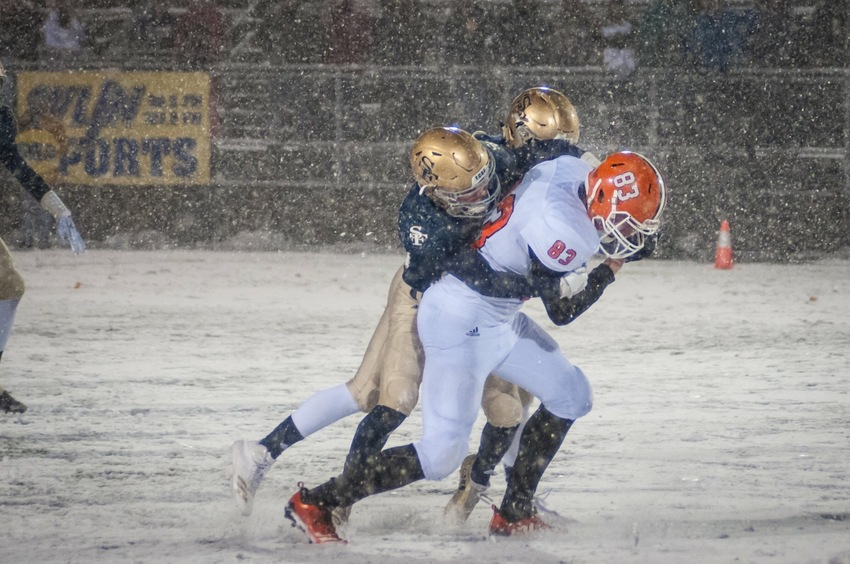 Snowy tackle