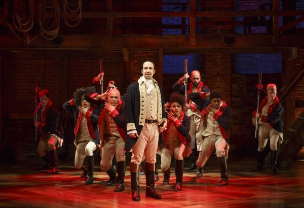 Lin-Manuel Miranda leads the cast of his new musical Hamilton, directed by Thomas Kail, at The Public Theater.