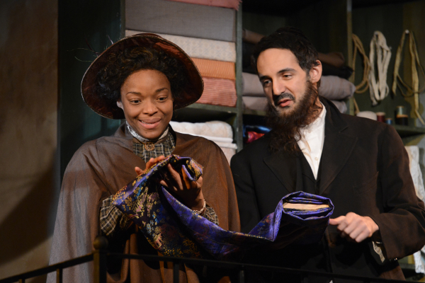 Lindsey McWhorter and Nael Nacer in Lynn Nottage's Intimate Apparel, directed by Summer L. Williams, at Boston's Lyric Stage Company.