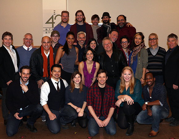 The Hunchback of Notre Dame cast and creative family.