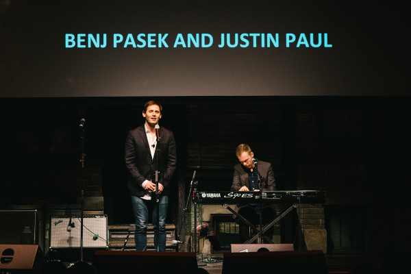 Tony-nominated songwriters Benj Pasek and Justin Paul perform a song from their new musical at TEDxBroadway.