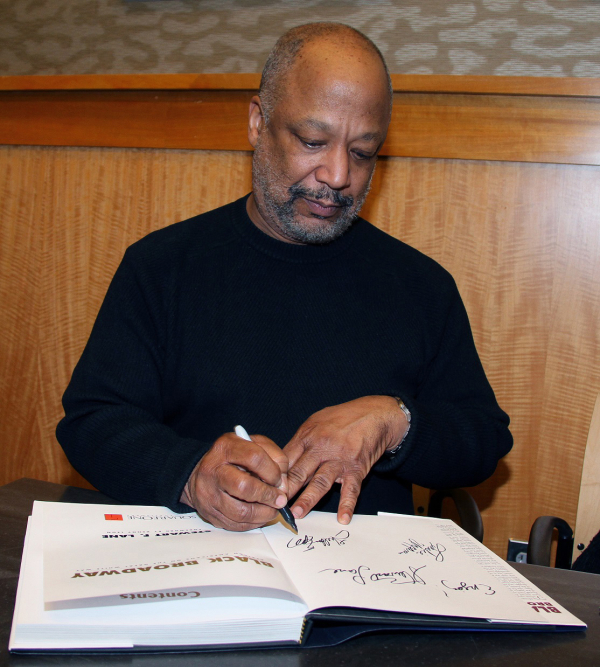 Sheldon Epps signs a copy of  the new book Black Broadway at Barnes & Noble.