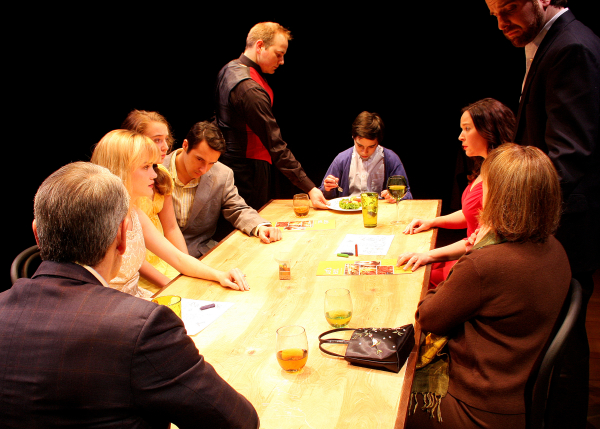 The cast of Dan LeFranc's The Big Meal, directed by David J. Miller, at Zeitgeist Stage Company.