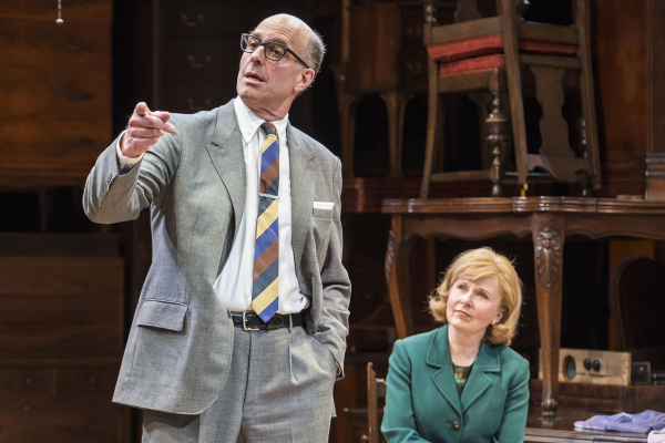 John Bedford Lloyd and Kate Burton in Arthur Miller's classic drama The Price, directed by Garry Hynes, at the Mark Taper Forum.