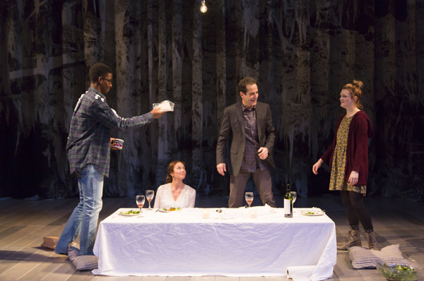Mamoudou Athie, Diane Lane, Tony Shalhoub, and Gayle Rankin star in Bathsheba Doran's The Mystery of Love & Sex, directed by Sam Gold, at Lincoln Center Theater's Mitzi E. Newhouse Theater.