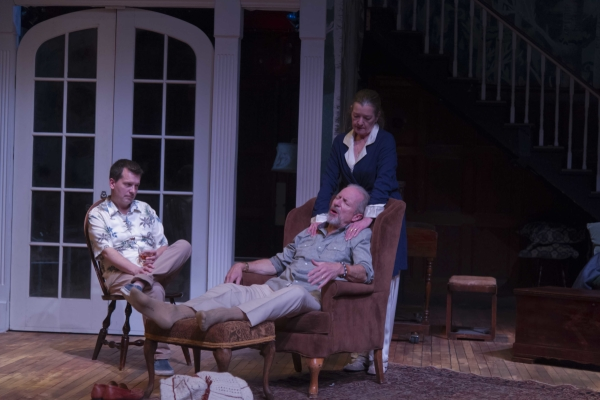 Tim Spears, John Kooi, and Michael Kaye in Uncle Jack, written and directed by Michael Hammond, at the Boston University Theatre.