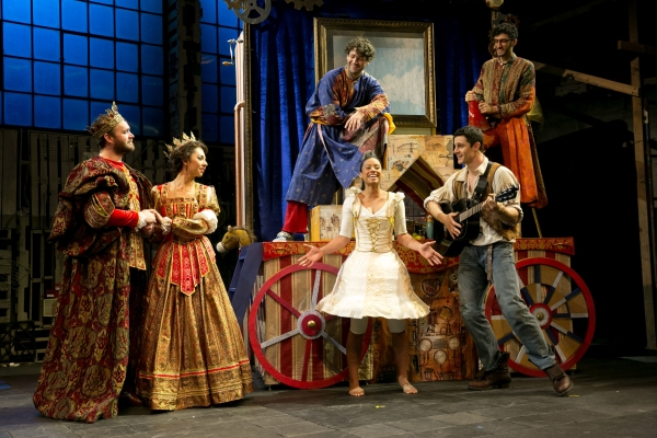 The cast of American Repertory Theater Institute's production of The Light Princess, directed by Allegra Libonati, at the New Victory Theater.