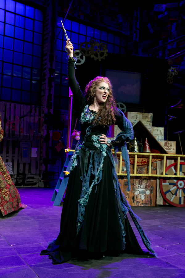Kristin Wetherington as the Witch in The Light Princess at the New Victory Theater.