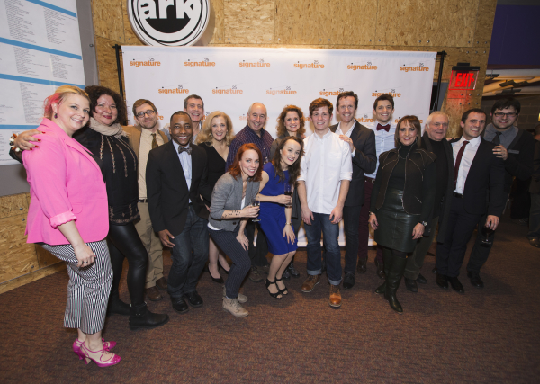 The cast and creative team behind the world premiere production of Kid Victory at Signature Theatre.