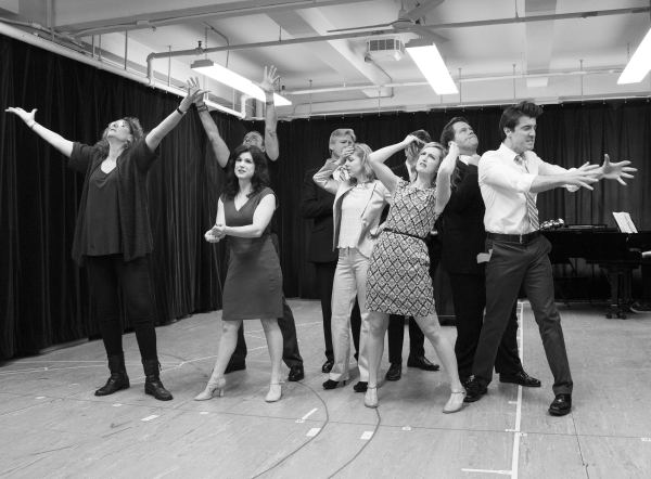 The cast of Clinton the Musical rehearses the show's opening number.