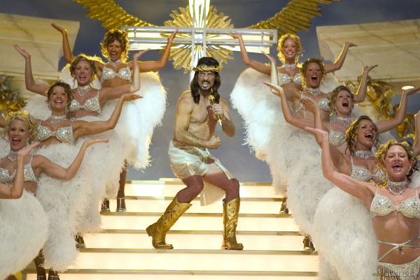 Robert Torti as Jesus in the 2005 Showtime film version of Reefer Madness.