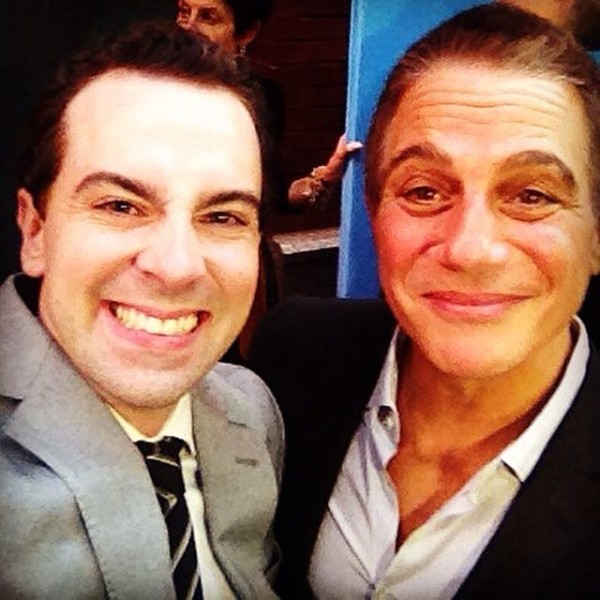 Rob McClure and Tony Danza take a #TMStarSelfie at the opening night of Broadway's On the Town in 2014.