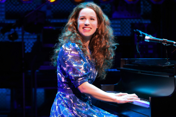 Chilina Kennedy as Carole King in Broadway's Beautiful at the Stephen Sondheim Theatre.