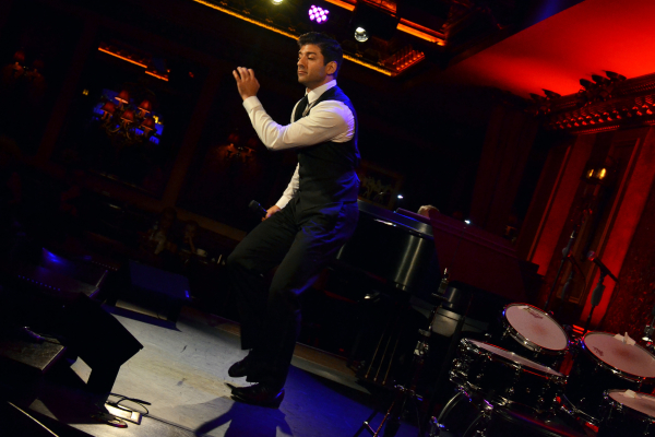 Tony Yazbeck performing his solo show The Floor Above Me at 54 Below.